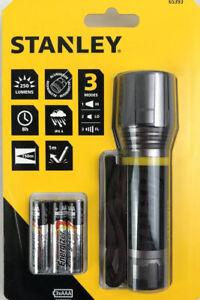 Stanley Aluminium LED Torch with Wrist Strap Compact Non-Slip 250 Lumen 12.5cm.