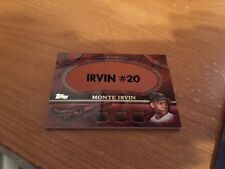 2011 Topps Leather Nameplate Monte Irvin MGL-MI Mets