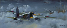 RAF Mosquito print Night Hawks signed by 2 night fighter pilots of 85 Squadron