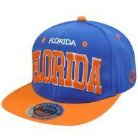 HAT CAP GORRA CHAPEU SNAP BACK MIAMI FLORIDA FLAT BILL BLUE ORANGE CITY HUNTER