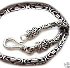 USA Seller Byzantine Bali Chain Sterling Silver 925 Best Price Jewelry 30 inches