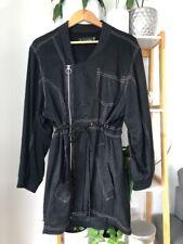 SHAKUHACHI Silk Linen Anorak Dress Jacket Zipper Small