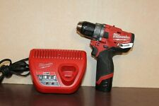 """Milwaukee 2504-20 12v 1/2"""" Cordless Hammer Drill Driver with Battery & Charger"""