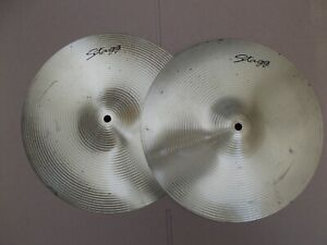 """2 x STAGG 14"""" HI HAT CYMBALS ( NEW OLD STOCK - EX MUSIC STORE CLOSED DOWN )"""
