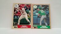 Mark McGwire 1987 Topps ROOKIE + 2017 Topps 30th Anniversary