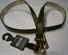 Michael Kors Womens Belt M Genuine Leather Reversible Belt Camoflauge 553333