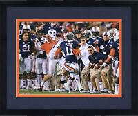 Frmd Chris Davis Auburn Tigers Signed 16 x 20 Missed Tackle Photo & Kick 6 Insc