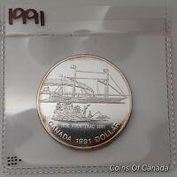 1991 Canada Silver Dollar UNCIRCULATED PROOF Coin Frontenac 1816 #coinsofcanada