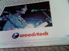 WOODSTOCK RARE 1970 U.S. 11x14 LOBBY CARD #2 MINT BAEZ 1960's HTF ORIG AMERICAN!