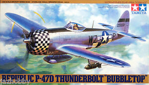 Tamiya 61090 1/48 Aircraft Model Kit USAF Republic P-47D Thunderbolt BubbleTop