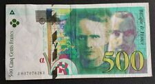 FRANCE - FRANCIA - FRENCH NOTE - BILLET DE 500F PIERRE & MARIE CURIE 1998 TTB.