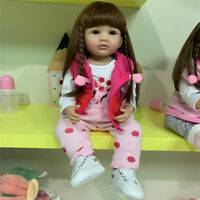 55cm Reborn Toddler Girl Doll Soft Full Body Silicone Girl Baby Doll Soft Touch