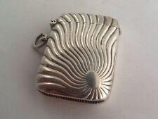 Vintage Antique Decorative 1920's EPNS Silver Plated Vesta Match Case