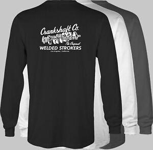 CRANKSHAFT CO.  Retro LONGSLEEVE T-Shirt speed shop stroker