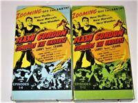 Flash Gordon Lot of 2 VHS Episodes 1-6 and Episodes 7-12