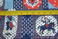 By 1/2 Yd, Vintage Patriotic Red White & Blue Quilting, Regulated Cottons, N1449