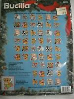 Christmas Critters Ornaments Counted Cross Stitch Kit by Bucilla 83176 Makes 48