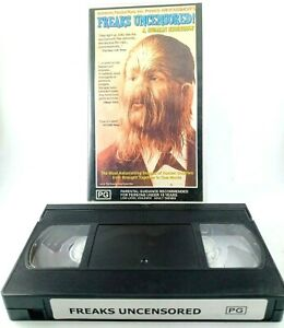 Freaks Uncensored A Human Sideshow VHS Tape Rated PG Approx. 100 Mins