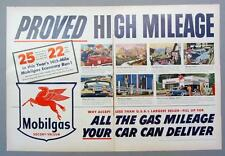 2 Page Original 1952 Mobil Ad PROVED HIGH MILEAGE...ALL YOUR CAR CAN DELIVER