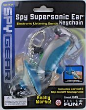 Spy Gear SUPERSONIC EAR Keychain Keyring miniature Basic Fun Earbud Microphone