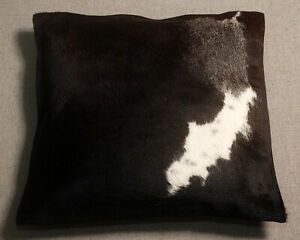 NEW COW HIDE LEATHER CUSHION COVER RUG COW SKIN Cushion Pillow Covers C-1561