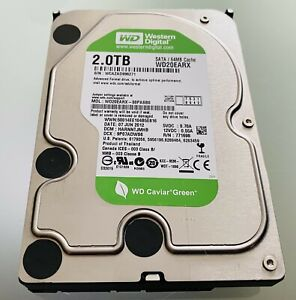 Western Digital WD20EARX 2TB interne Festplatte 3,5 Zoll 5400rpm SATA III 6Gb/s