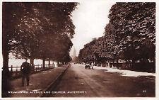Wellington Avenue & Church ALDERSHOT England 1920-30s Excel Real Photo Postcard