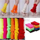 Women's Crochet Knit Solid Color Winter Wool Leg Warmers Legging Socks US Stock