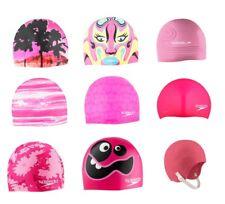 SPEEDO Pink Collection Girly Swim Lane Swimming Soft Pool Bathing Cap Swimcap