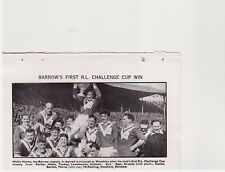 Team Pic from 1955-56 FOOTBALL Annual - WARRINGTON + BARROW with Challenge Cup