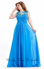 Party Time Formals 6621 Turquoise Stunning Pageant Prom Gown Dress sz 18W