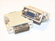 DVI-I 24+5 zu/auf VGA Digital & Analog Adapter D-Sub PC Monitor Beamer Buchse