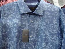 Camicie casual da uomo Blu Floreale