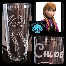 Personalised Disney Princess Anna Frozen Glass Handmade Any Name Engraved Free