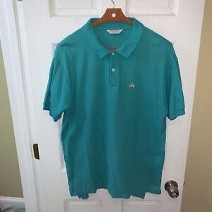 Brooks Brothers Golden Fleece Polo Shirt Men Extra Large XL Green Cotton US Made