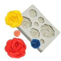 3D Rose Flower Silicone Fondant Chocolate Mould Cake Decor Sugarcraft Soft Fast