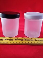 250ml Empty Strong opaque plastic storage containers/jars/tubs-wadded lid x 50