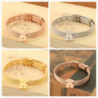 Women Fashion Carbon Steel Bear Animal Bangle Bracelet Watch Strap Jewelry