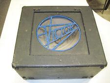 Victor Vintage Antique Art Deco Speaker Box / Cabinet Carry Case
