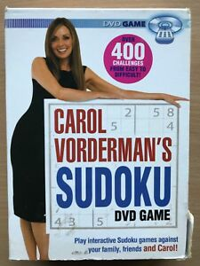 Carol Vorderman's Sudoku DVD Game UK Interactive DVD with over 400 Challenges