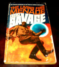 Doc Savage 61 The Living Fire Menace by Kenneth Robeson 1st Bantam  1971