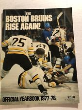 1977 78 BOSTON BRUINS Official Yearbook BRAD PARK Terry O'REILLY Gary CHEEVERS