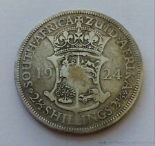 1924 South Africa 2 1/2 Shilling .800 Silver Coin