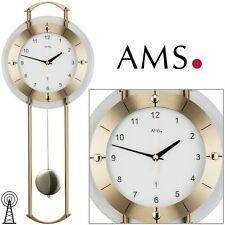 AMS 5255 Funk Wanduhr Pendeluhr Mineralglas-metall Uhren-neu