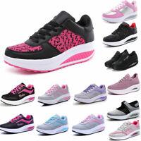 HOT Women Walking Fitness Shape Ups Toning Shoes Platform Wedge Jogging Sneakers