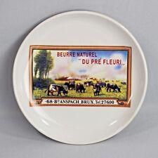 Beurre Naturel Du Pre Fleuri Cheese Plate 5.75 Inch Diameter Grazing Cattle
