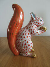 More details for herend porcelain squirrel. rust colour. mint and boxed.