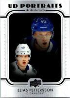 2019-20 Upper Deck Hockey UD Portraits Card #P-25 Elias Pettersson