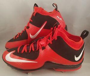 Nike Air Max MVP Elite II 3/4 Metal Baseball Cleats Men's Size 12 Orange Black
