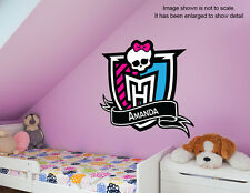 Personalized Monster High Wall Decal (Removable and Replaceable)